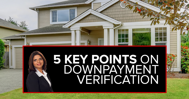 5 Key Points on Down Payment Verification
