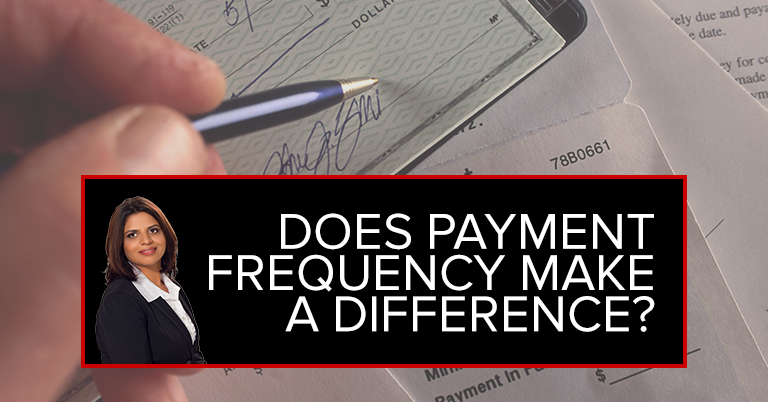 Does Payment Frequency Make A Difference?