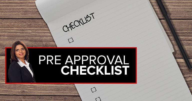 Pre Approval Checklist
