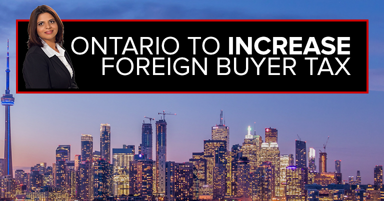 Ontario To Increase Foreign Buyer Tax?